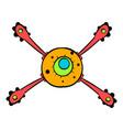 virus icon icon cartoon vector image vector image
