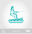 water skiing outline icon summer vacation vector image vector image