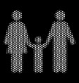 white pixelated family child icon vector image
