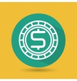 symbol of currency green isolated icon design vector image