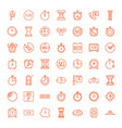 49 hour icons vector image vector image