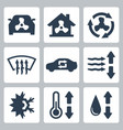 air conditioning icons set