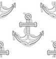 anchor with rope seamless pattern hand drawn vector image vector image