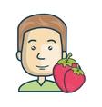 avatar man cartoon vector image vector image