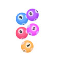 balls with lotto bingo numbers lottery numbered vector image vector image
