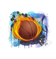 basketball on grunge background vector image vector image
