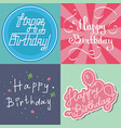 beautiful birthday invitation card design colorful vector image vector image