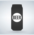 beer can icon on light background isolated vector image