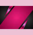 black and pink glossy abstract corporate vector image