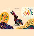 bunny3 vector image vector image