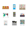 cartoon shopping on store vector image vector image