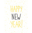 christmas card gold happy new year vector image vector image