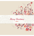 Christmas text vintage elements abstract vector image vector image