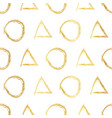 circle and triangle shapes gold foil hand drawn vector image