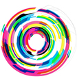 Colorful Font - Letter o vector image vector image