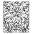 coloring book page design with pattern symmetric vector image