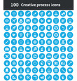 creative process 100 icons universal set for web vector image