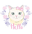cute cat t-shirt printlove cardsvalentine s vector image