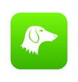 dachshund dog icon digital green vector image