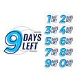 days left countdown banner set