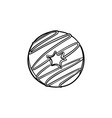 doughnut hand drawn sketch icon vector image