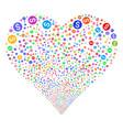 financial reward seal fireworks heart vector image vector image