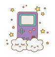 game boy and clouds vector image vector image
