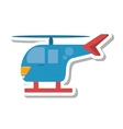 helicopter transport isolated icon vector image vector image