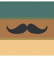 Hipster trend vintage knitted moustache on striped vector image vector image