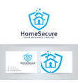 home secure logo design vector image vector image