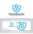 home secure logo design vector image vector image