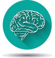 Human brain icon flat with shadow vector image vector image