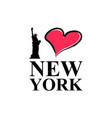 i love new york typography lettering and liberty vector image vector image