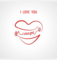 i love you typographical design elements vector image vector image