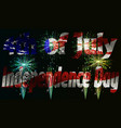 independence day of america day on 4th july vector image