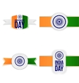 india independence day paper labels set vector image vector image