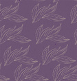 leaves white purple ink vector image vector image