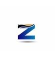 Letter Z logo vector image vector image
