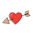 love cupid hearts pierced arrow romantic passion vector image vector image