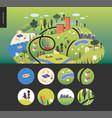 magical summer landcape vector image vector image
