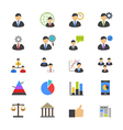 Management Flat Color Icons vector image vector image