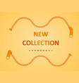 new collection zipper vector image vector image