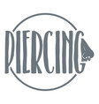 nose piercing logo simple gray style vector image vector image