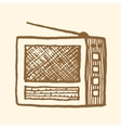 Old radio Vintage style vector image vector image