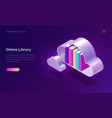 online library electronic reading isometric vector image vector image
