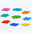 parts colorful puzzles vector image vector image
