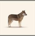 polygonal wolf vector image vector image