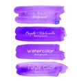 purple brush stroke watercolor vector image vector image