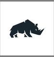 rhino silhouette symbol for logo