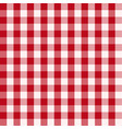 seamless checked red vichy pattern vector image